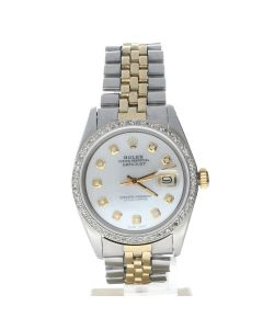 Rolex DateJust 36 Stainless-steel 1601 Mother-of-Pearl Dial Men's 36-mm Automatic-self-wind Watch