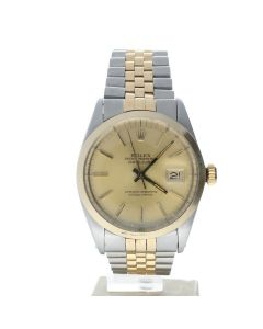 Rolex DateJust 36 Stainless-steel 16013 Champagne Dial Mens 36-mm Automatic self-wind Sapphire crystal. Swiss Made Wrist Watch