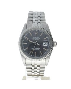 Rolex DateJust 36 steel 16030 Black Dial Men's 36-mm Automatic-self-wind Sapphire crystal. Swiss Made Wrist Watch