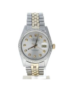 Rolex DateJust 36 Stainless-steel 16013 Silver Dial Men's 36-mm Automatic-self-wind Sapphire crystal. Swiss Made Wrist Watch