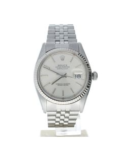 Rolex Datejust 36 Stainless steel 16014 Silver Dial 36-mm Automatic-self-wind Sapphire crystal. Swiss Made Wrist Watch