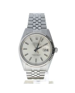 Rolex Datejust 36 Stainless-steel 16014 Silver Dial Men's 36-mm Automatic Sapphire crystal. Swiss Made Wrist Watch
