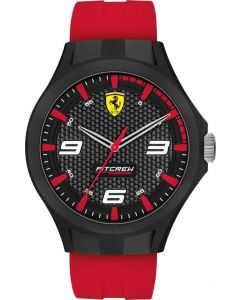 FERRARI Pit Crew Red Rubber Analog Men Watch 830676