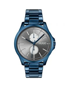 HUGO Jump watch with Ionic Plated Dark Blue Steel bracelet - 1530006