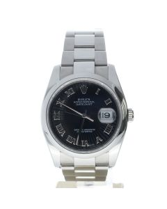 Rolex Datejust 36 Stainless-steel 116200 Black Dial Men's 36-mm Automatic Sapphire crystal. Swiss Made Wrist Watch