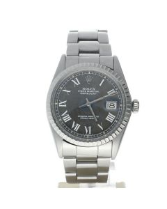 Rolex DateJust 36 Stainless-steel 1603 Grey Dial Mens 36-mm Automatic self-wind Sapphire crystal. Swiss Made Wrist Watch