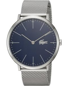Lacoste Moon Stainless-steel 2010900 Blue Dial Mens 40-mm Quartz Mineral crystal.  Wrist Watch