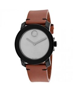 Movado Movado Bold Stainless-steel 3600442 Grey Dial Mens 42-mm Quartz Mineral crystal. Swiss Made Wrist Watch