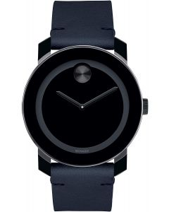 Movado Movado Bold Stainless-steel 3600583 Black Dial Mens 42-mm Quartz Mineral crystal. Swiss Made Wrist Watch