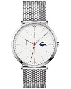 Lacoste Moon Multi Stainless-steel 2011025 White Dial Mens 40-mm Quartz Mineral crystal.  Wrist Watch