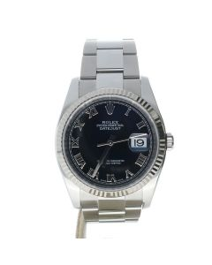Rolex Datejust 36 Stainless-steel 116234 Black Dial Men's 36-mm Automatic-self-wind Sapphire crystal. Swiss Made WristWatch