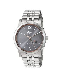 Lacoste Metro Stainless-steel 2010927 Grey Dial Mens 42-mm Quartz Mineral crystal. WristWatch