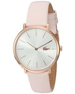 Lacoste Women's Quartz Gold and Leather Watch, Color:Pink (Model: 2000948)