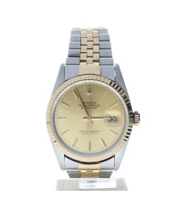 Rolex Datejust 36 Stainless-steel 16233 Champagne Dial Men's 36-mm Automatic-self-wind Sapphire crystal WristWatch