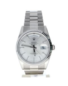 Rolex Day-Date 36 White-gold 118239 Silver Dial Men's 36-mm Automatic-self-wind Sapphire crystal. Swiss Made Wrist Watch