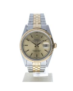 Rolex Datejust 36 Stainless-steel 16233 Champagne Dial Men's 36-mm Automatic Wrist Watch