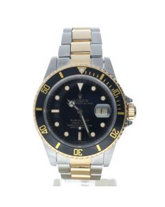 Rolex Submariner Stainless-steel 16803 Black Dial Men's 40-mm Automatic-self-wind Sapphire crystal. Swiss Made Wrist Watch