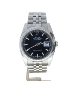 Rolex Datejust 36 Stainless-steel 116200 Black Dial Men's 36-mm Automatic Wrist Watch