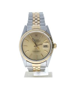 Rolex Datejust 36 Stainless-steel 16233 Champagne Dial Men's 36-mm Automatic-self-wind Sapphire crystal. Swiss Made Watch