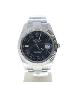 Rolex Datejust 41 Stainless-steel 116334 Black Dial Men's 41-mm Automatic Wrist Watch