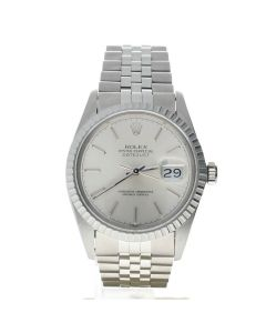 Rolex Datejust 36 Stainless-steel 16030 Silver Dial Men's 36-mm Automatic-self-wind Sapphire crystal. Swiss MadeWatch