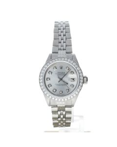 Rolex Datejust 26 Stainless-steel 6916 Silver Dial Women's 26-mm Automatic-self-wind Sapphire crystal. Swiss Made Wrist Watch