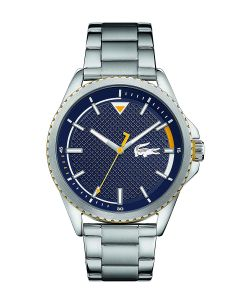 Lacoste Lacoste 12.12 Stainless-steel 2011030 Blue Dial Mens 44-mm Quartz Mineral crystal.  Wrist Watch