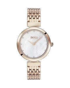 Hugo Boss Classic Stainless-steel 1502480 Mother-of-Pearl Dial Womens 30-mm Quartz Mineral crystal.  Wrist Watch