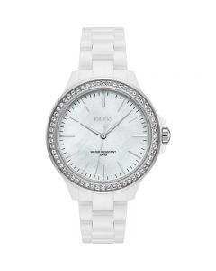 Hugo Boss Classic Stainless-steel 1502454 Mother-of-Pearl Dial Womens 39-mm Quartz Mineral crystal.  Wrist Watch