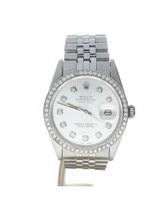 Rolex Datejust 36 Stainless-steel 16014 Silver Dial Men's 36-mm Automatic Wrist Watch