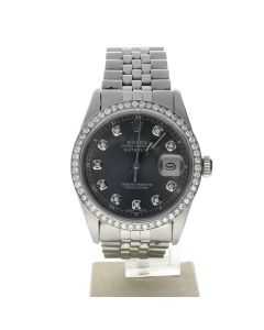Rolex Datejust 36 Stainless-steel 16014 Grey Dial Men's 36-mm Automatic WristWatch