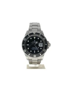 Rolex Submariner Stainless-steel 16610 T Black Dial Men's 40-mm Automatic Wrist Watch