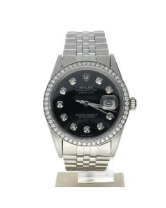 Rolex DateJust 36 Stainless-steel 16014 Black Dial Mens 36-mm Automatic WristWatch