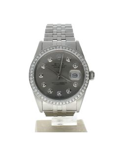 Rolex Datejust 36 Stainless-steel 16014 Grey Dial Men's 36-mm Automatic Wrist Watch