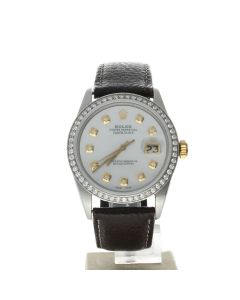 Rolex Datejust 36 Stainless-steel 1600 Mother-of-Pearl Dial Men's 36-mm Automatic-self-wind Sapphire crystal. Swiss Made Wrist Watch