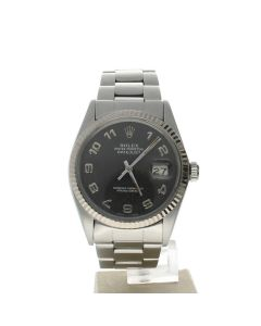 Rolex Datejust 36 Stainless-steel 16014 Black Dial Men's 36-mm Automatic Swiss Made Wrist Watch