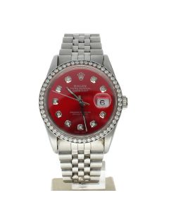 Rolex Datejust 36 Stainless-steel 16234 Mother-of-Pearl Dial Men's 36-mm Automatic-self-wind Sapphire crystal. Swiss Made Wrist Watch