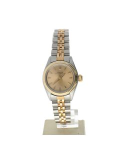 Rolex Oyster Perpetual 26 Stainless-steel 6619 Champagne Dial Women's 26-mm Automatic-self-wind Sapphire crystal. Swiss Made Wrist Watch