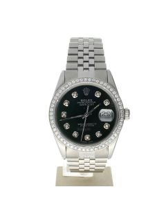 Rolex Datejust 36 Stainless-steel 16014 Green Dial Men's 36-mm Automatic-self-wind Sapphire crystal. Swiss Made Wrist Watch