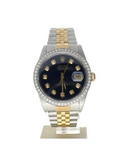 Rolex Datejust 36 Stainless-steel 16233 Blue Dial Men's Automatic-self-wind Sapphire crystal. Swiss Made Wrist Watch