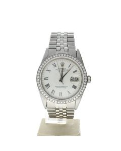 Rolex Datejust 36 Stainless-steel 6605 White Dial Men's 36-mm Automatic-self-wind Sapphire crystal. Swiss Made Wrist Watch
