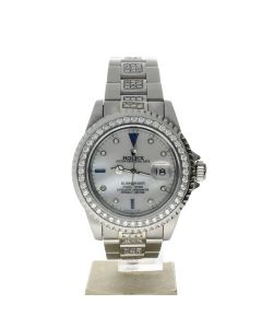 Rolex Submariner Stainless-steel 16610 Mother-of-Pearl Dial Men's 40-mm Automatic-self-wind Sapphire crystal. Swiss Made Wrist Watch
