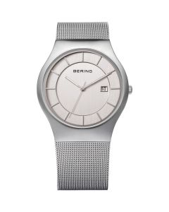 BERING Time 11938-000 Mens Classic Collection Watch with Mesh Band.