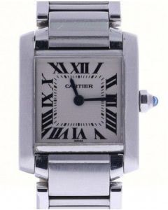 Cartier Tank Francaise 2300 Stainless-steel White Dial Womens 20-mm Quartz Watch