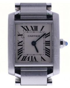 Cartier Tank Francaise 2384 Stainless-steel White Dial Womens 20-mm Quartz Watch