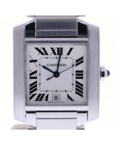 Cartier Tank Francaise Stainless-steel 2302 Silver Dial Womens 31-mm Automatic s