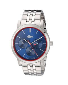 Lacoste Metro Stainless-steel 2010878 Blue Dial Mens 44-mm Quartz Mineral crysta