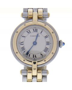 Cartier Cougar Panthere 19145Two tone White Dial Womens 24-mm Quartz Watch