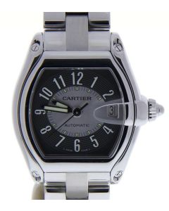 Cartier Roadster 2510 Stainless-steel Black Dial Mens 38-mm Automatic Watch