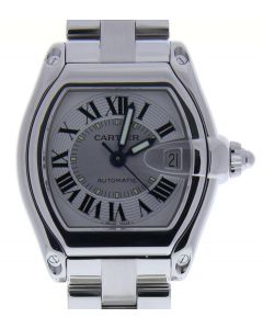 Cartier Roadster Stainless-steel 2510 Silver Dial Men's 43-mm Automatic-self-wind Sapphire crystal. Swiss Made Wrist Watch
